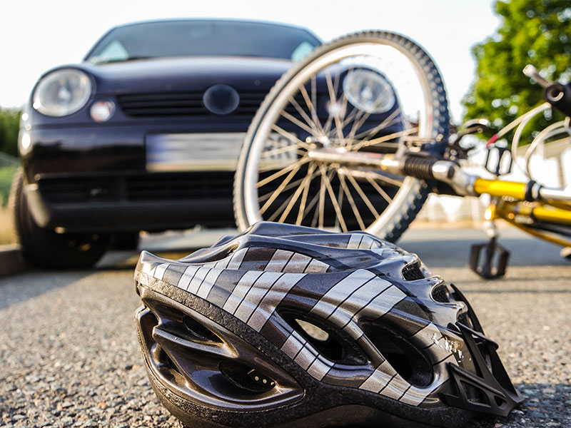 Gefährdete Fahrradfahrer