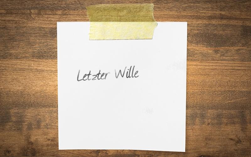 Testament auf Notiz-Zettel?