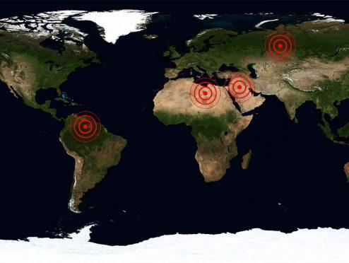 Aon: Karte der weltpolitischen Risiken