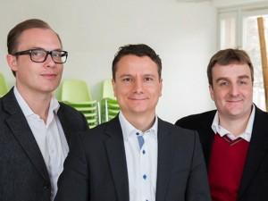 Die drei Gründer von virado v.r.n.l.: Achim Hepp, Armin Molla und Christian Berlage