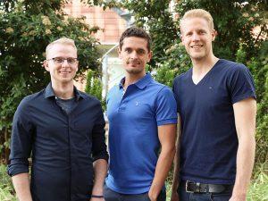 V. l. n. r.: Marko Berndt, Timo Golomski und Martin Volmerding