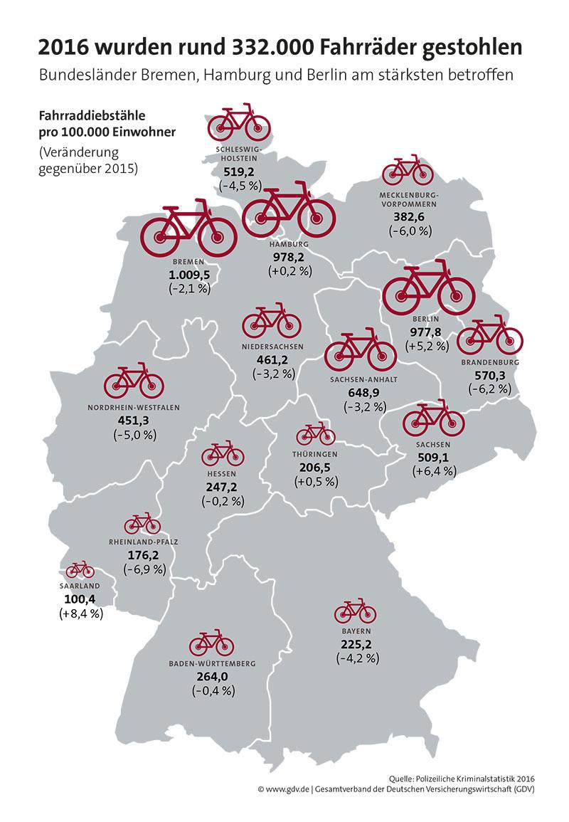 Deutschlandkarte-Fahrraddiebstahl-2017-GDV