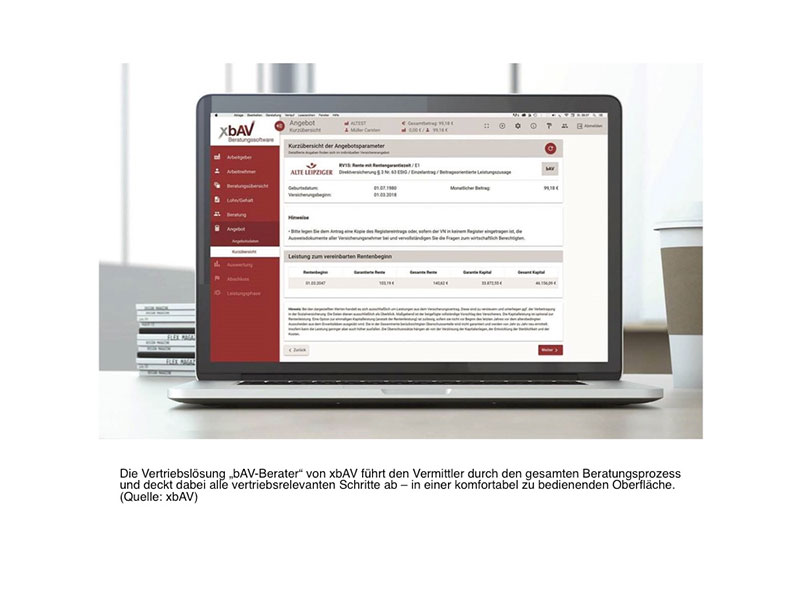Der bAV-Berater führt den Vermittler durch den gesamten Beratungsprozess.