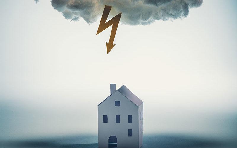 Wohngebäude halten Extremwetter noch Stand