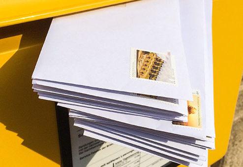 Briefeinwurf ist Unterbrechung des Arbeitsweges