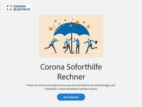 Neuer Online-Rechner: Corona Soforthilfe nach 3 Klicks