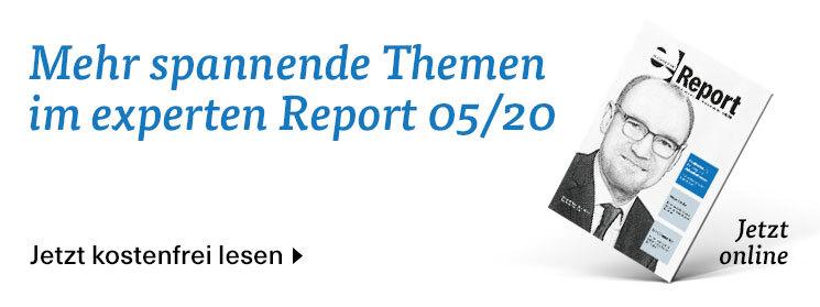 Mehr zum Thema in der Mai-Ausgabe des experten-Report